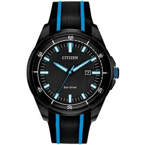 NEW Citizen 45mm Neon Silicone Eco Drive Watch
